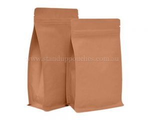 Kraft Paper Pouches with Zipper