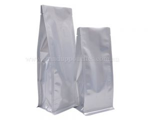 Matt Silver Pouches Without Zipper
