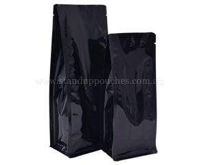 Shiny Black Pouches no Zipper