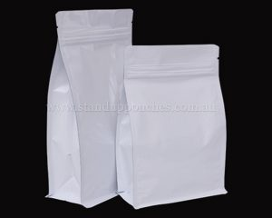 Shiny White Pouches with Zipper