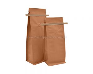 Brown Paper Bags With Tin Tie With Valve