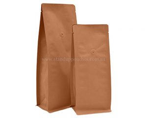 Brown Paper Bags Without Zipper With Valve
