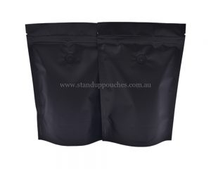 Matt Black Pouches With Zipper