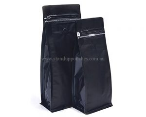 Matt Black Bags With Tear Off Zipper With Valve