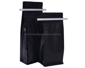 Matt Black Bags With Tin Tie With Valve