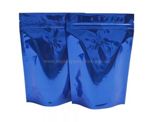 Shiny Blue Pouches