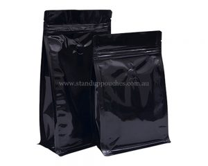 Shiny Black Indian Zipper With Valve Pouches