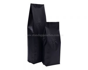 matt Black Side Gusset Pouches