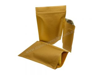 Brown Stripped Paper Bag