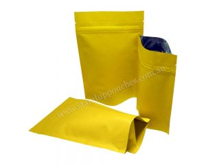 Yellow Stripped Paper Bag