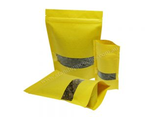 Yellow Stripped full Rectangle Window Paper Bag