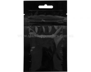 3gm Black Three Side Seal Bag