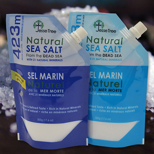 Natural Sea Salt Packaging in Custom Shaped Pouches