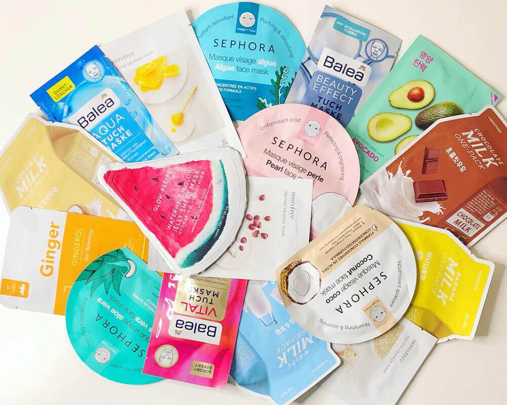 Different Shape Cosmetic Sheet Mask Packaging
