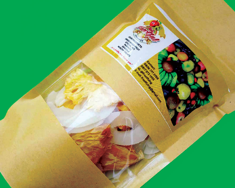 Dried Fruits packaging With Full Rectangle window
