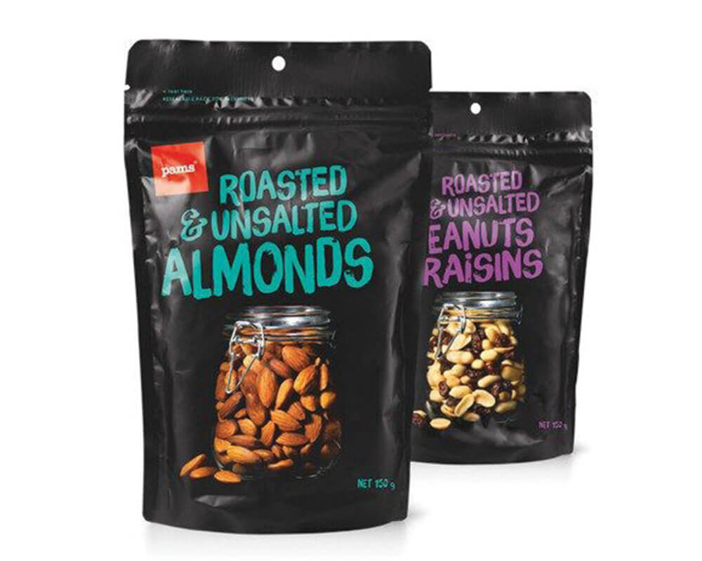 Roasted & Unsalted Almonds Packaging