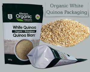 Organic White Quinoa Packaging