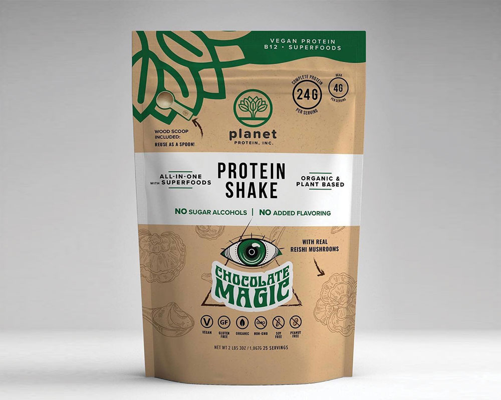Protein Shake Packaging In Brown Paper Bags