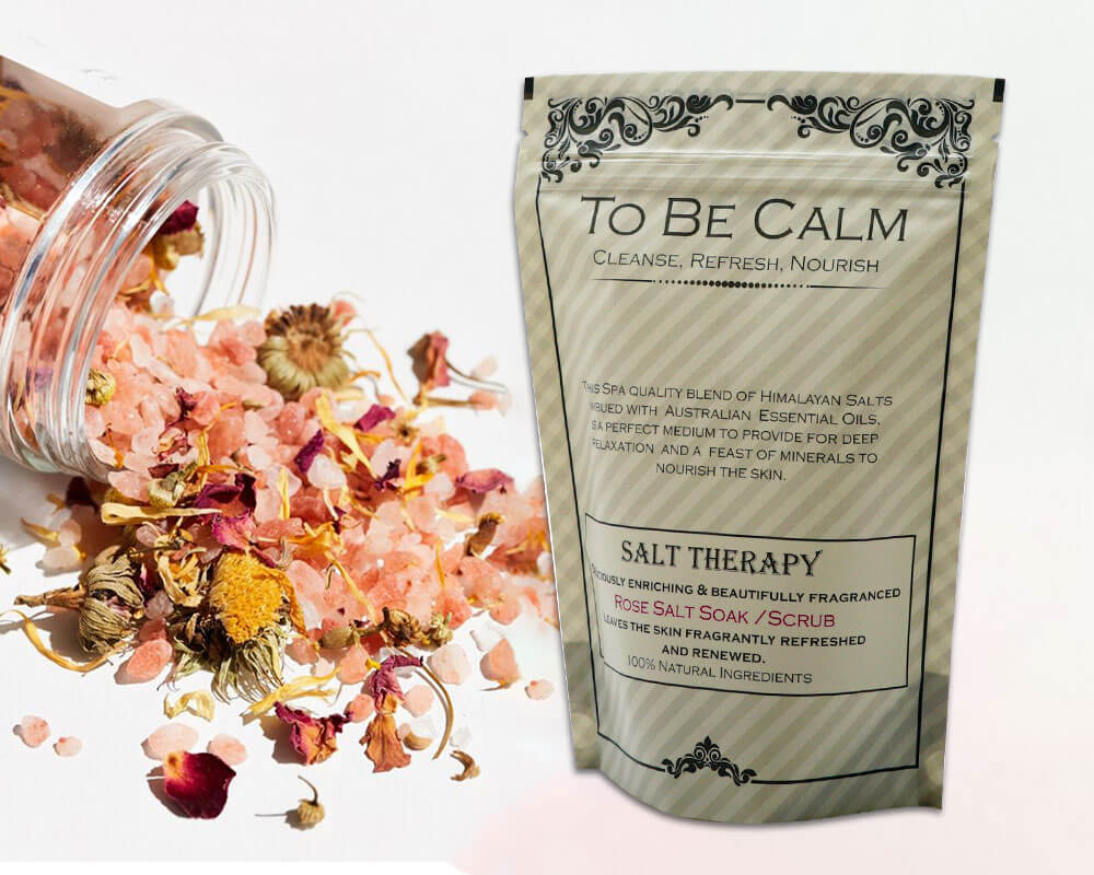 Rose Bath Salt Soak Packaging