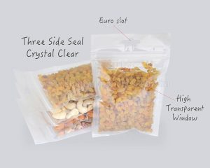 Three side seal With Crystal clear
